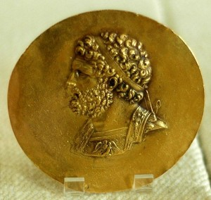 Philip II of Macedon, Victory medal (niketerion) struck in Tarsus, 2nd c. BC (Cabinet des Médailles, Paris)