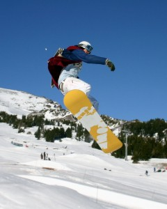 snow boarding in Greece
