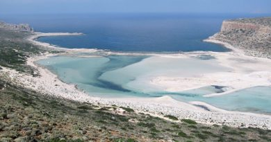 Balos Lagoon with Cap Tigani to the right, Gramvousa island, Greece