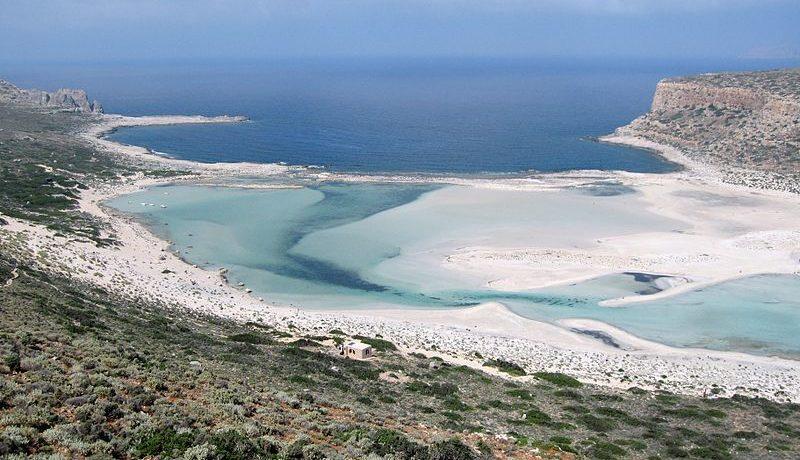 Balos Lagoon with Cap Tigani to the right, Gramvousa island, Greece