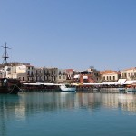 View of Rethymno harbour