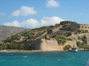 The Venetian fortress on the island of Spinalonga, Crete