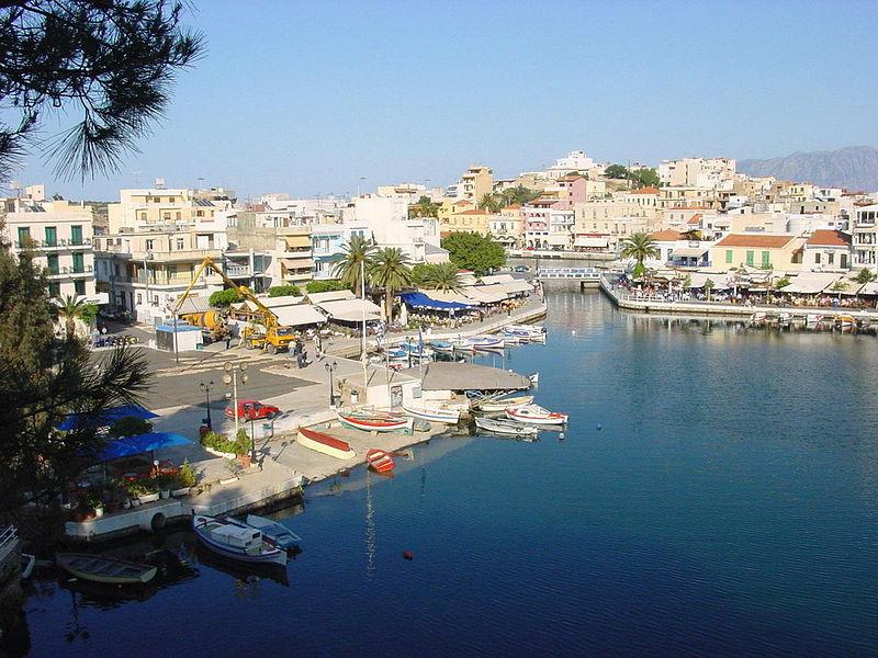 Agios Nikolaos (Lake Voulismeni) in Crete, Greece