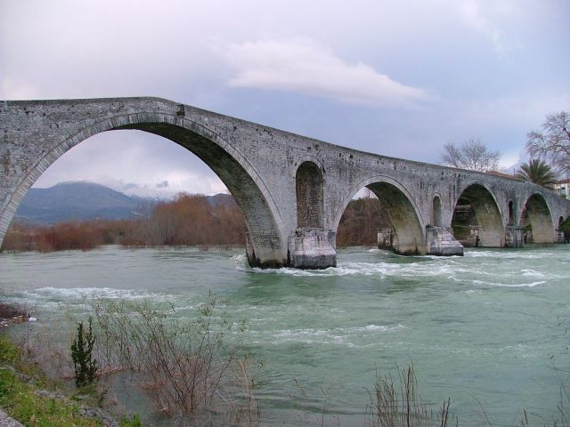 The Bridge of Arta over the river Arachthos