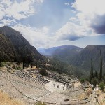 The theatre at Delphi (as viewed near the top seats)