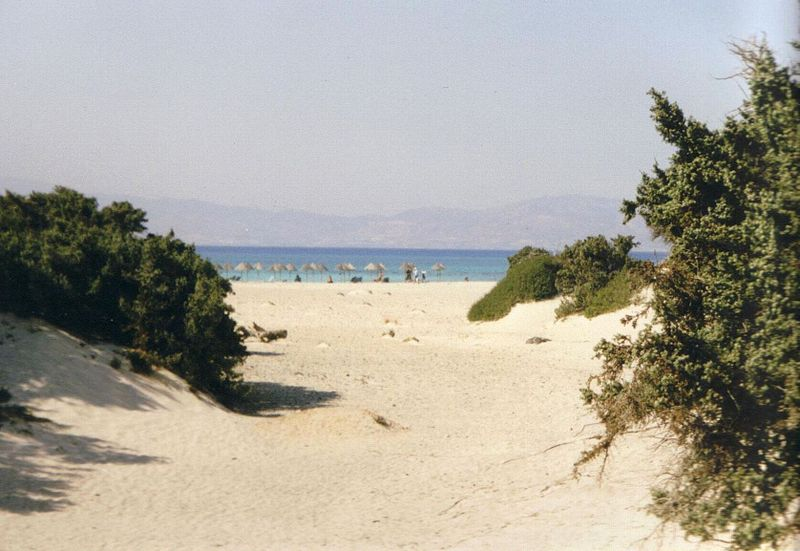 Beach on Chrysi Island south of Crete, Greece