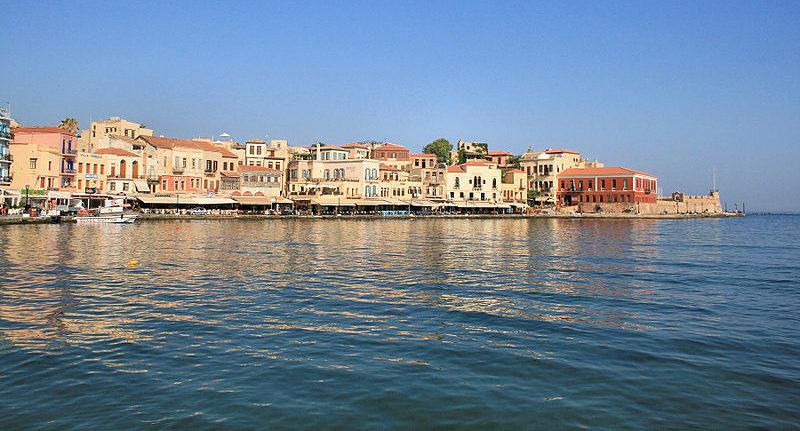 The Venetian harbor of Chania, Crete