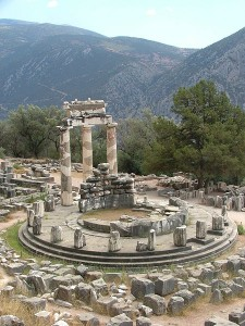 The Tholos at base of Mount Parnassus: 3 of 20 Doric columns