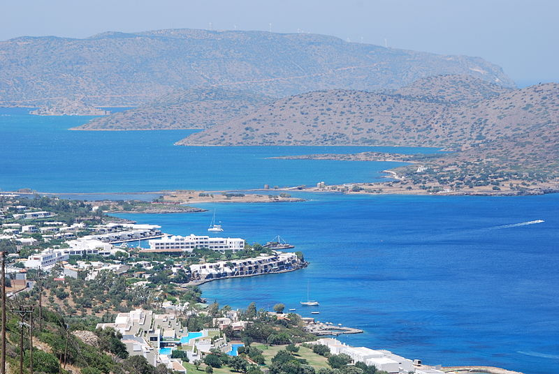 Elounda village near Spinalonga Island, Crete