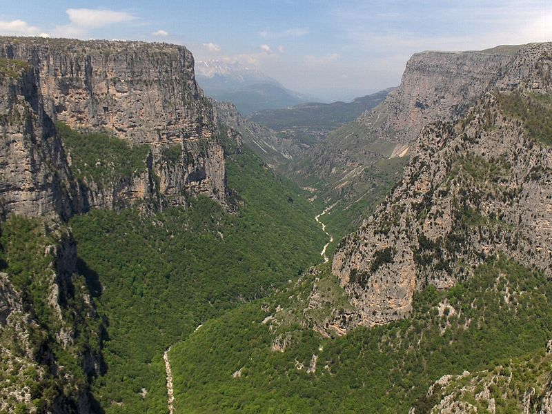Vikos Gorge from Beloe, Epirus
