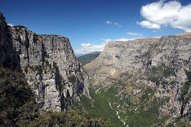 Vikos gorge Oxia owards Vikos, Zagori, Epirus