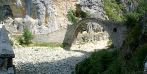 Zagorohoria - Kokori's bridge in Vikos-Aoos National Park, Epirus, Greece