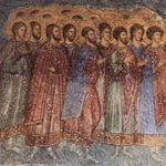 Fresco at Hodigitria's church in Mystras