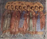 Fresco at Hodigitria's church in Mystras