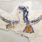 Fresco fragment of a dancing woman (Knossos, 1600–1450 BC)