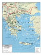 Natural Earth Map of Greece