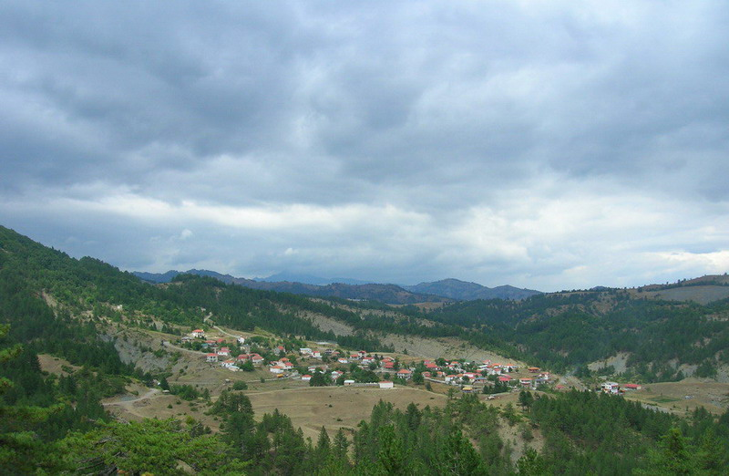View of Mesolouri village in Grevena Prefecture