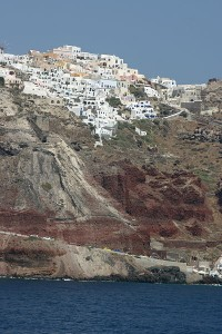 Houses on the caldera, Santorini