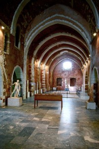 Interior of the Archeaological Museum of Chania, Crete