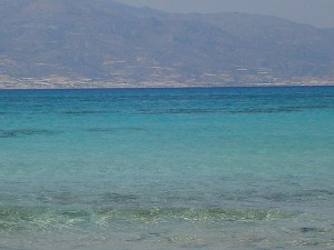 A view of Crete from the island of Chrysi