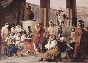 Odysseus at the court of Alcinous by Francesco Hayez (1813-1815)