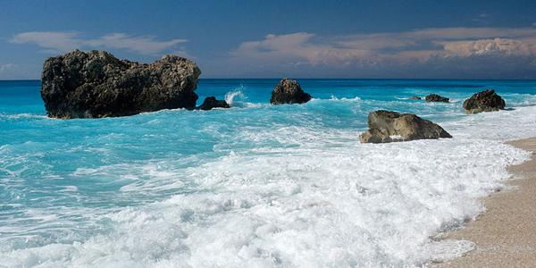 Kalamitsi Beach in Lefkada island, Greece