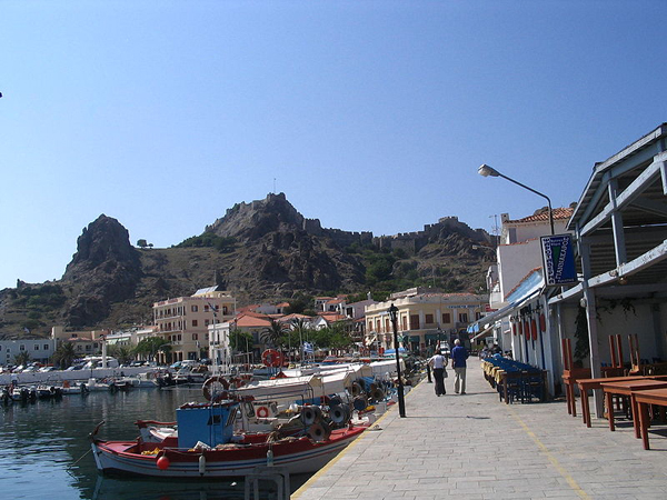 Myrina harbour and castle, Lemnos