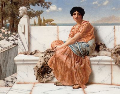 In the days of Sappho by John William Godward (1904)
