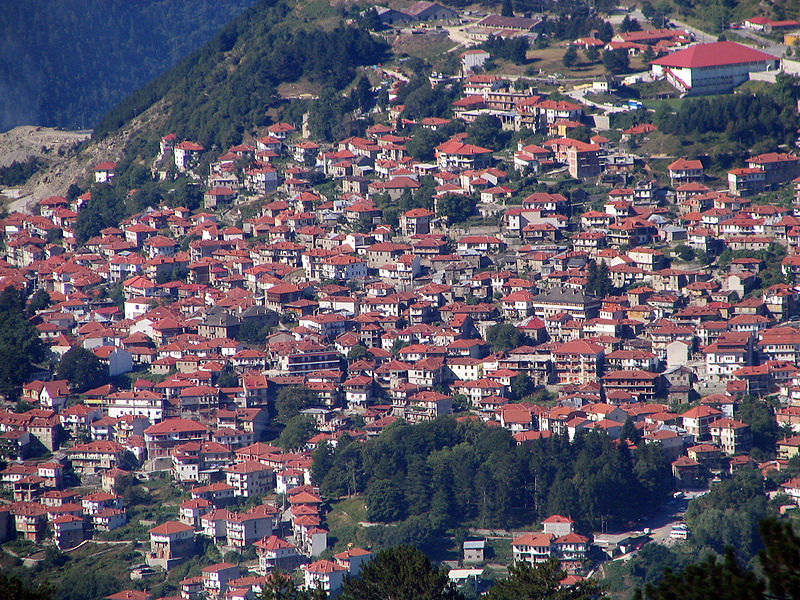 Panorama of Metsovo, Epirus