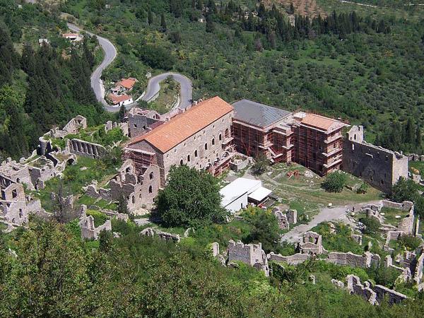 Mystras palace, Laconia, Peloponnese