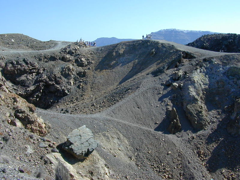 Nea Kameni - Crater, Santorini, Greece
