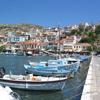 Pythagoreion harbour on Samos, North Aegean island, Greece