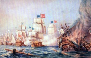 The Battle of the Oinousses islands - Turkish-Venetian War 1695