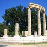Filip Temple in ancient Olympia, Greece