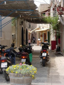 Narrow streets of Gaios, Paxos