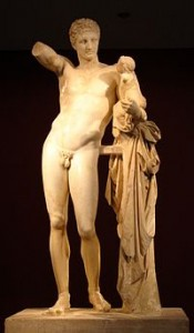Praxiteles Hermes at Olympia Archaeological Museum, Greece