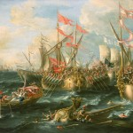 The Naval Battle of Actium, by Lorenzo A.Castro (1672)