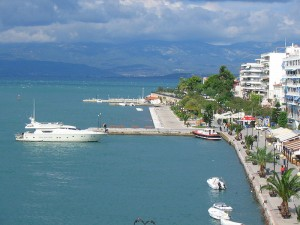 Quay of Chalkida, Euboea, Greece