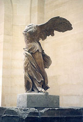 Victory of Samothrace, displayed in the Louvre, Paris