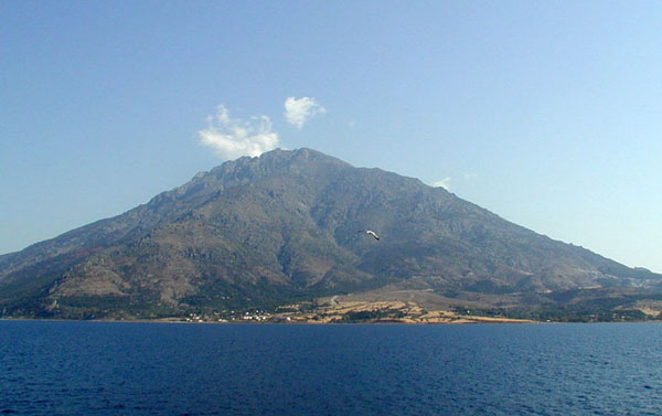 Samothrace island with Mt. Fengari in the background