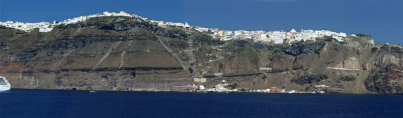 Panorama of Santorini, Greece