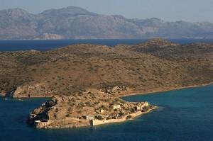 Spinalonga - Elounta, panoramic view from the mountain, Crete