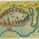 Venetian map of Chalkis, Euboea, Greece