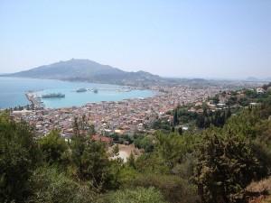 Panorama of Zakyntos city
