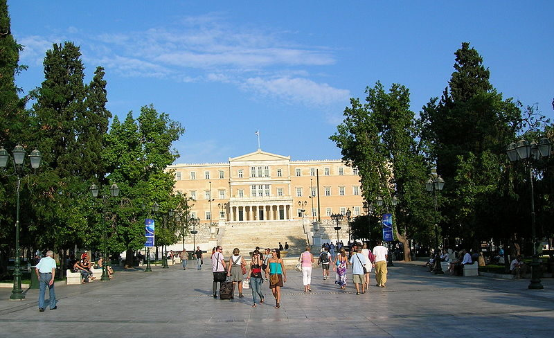 The Hellenic Parliament at Syntagma square, Athens