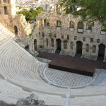 Theatre of Herodes at the foot of Acropolis, Athens