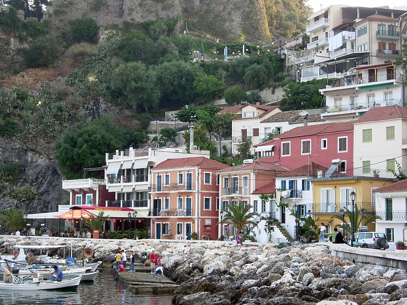 Parga shore, Epirus, Greece