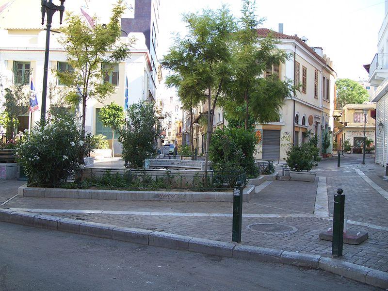 Psyri square, Athens