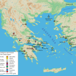 Map to the Greek sanctuaries