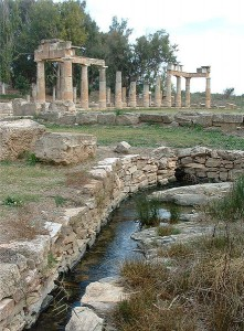 The Stoa and the sacred spring from the SW